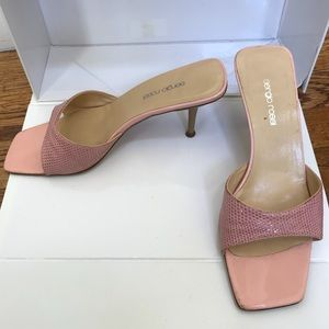 Sergio Rossi Pink Leather Heels